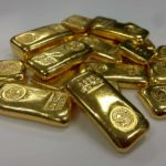 In this photo gold bullions.