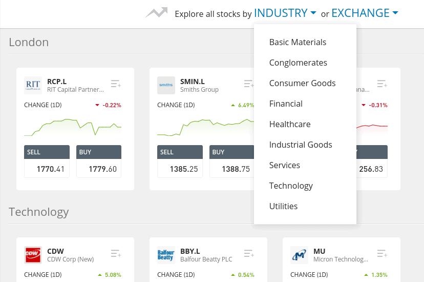 Buy shares on eToro