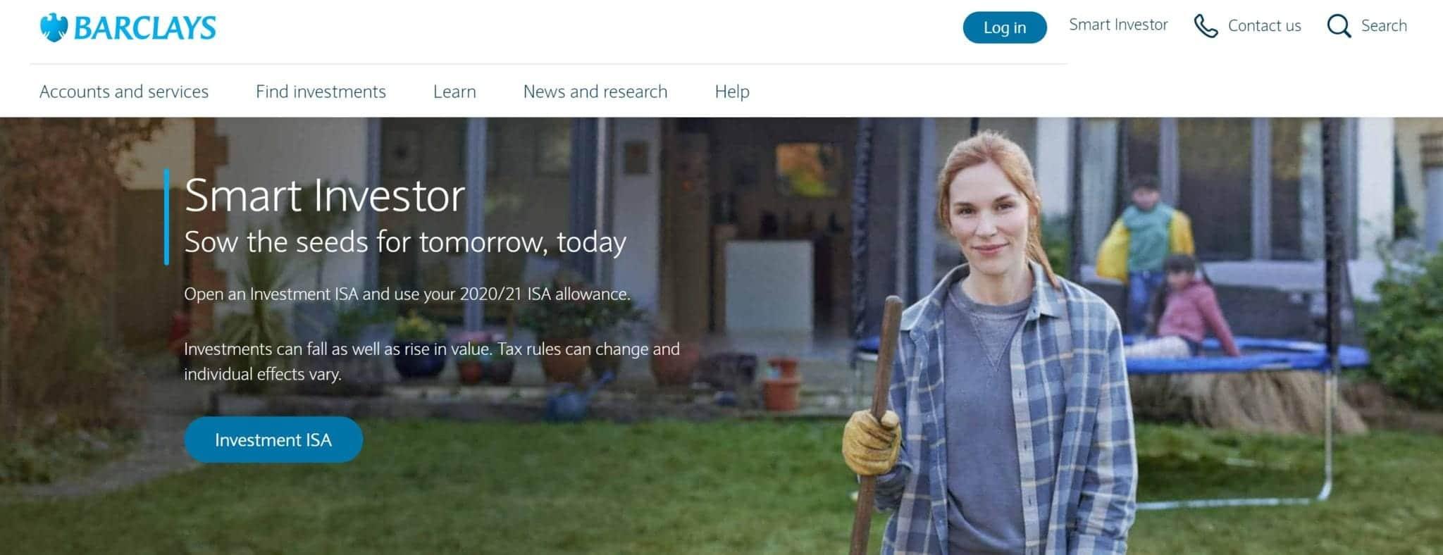 Barclays Smart Investor homepage