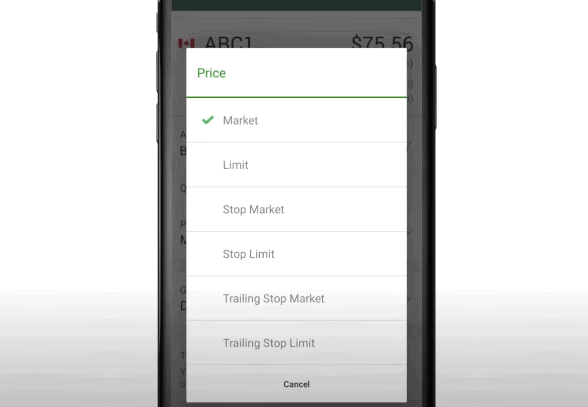 TD Direct buy shares