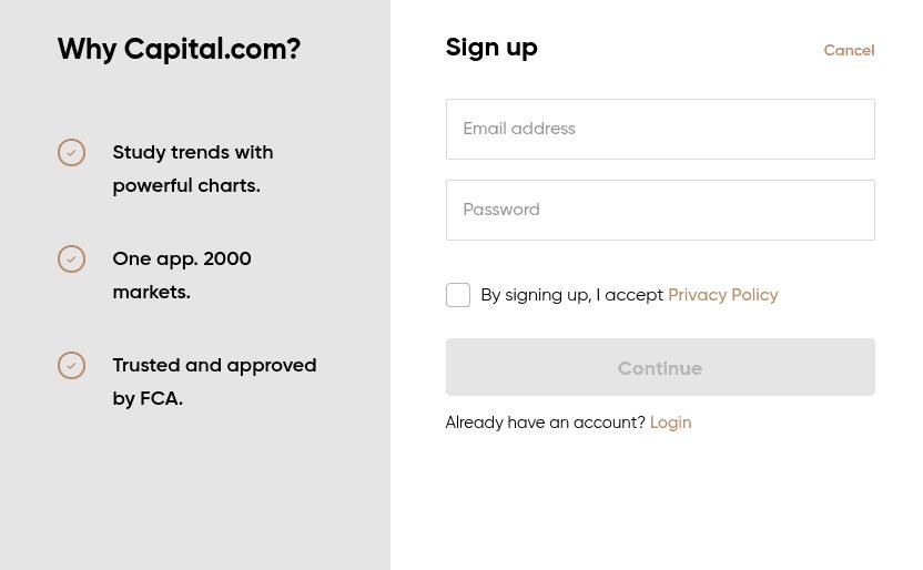 Register at Capital.com