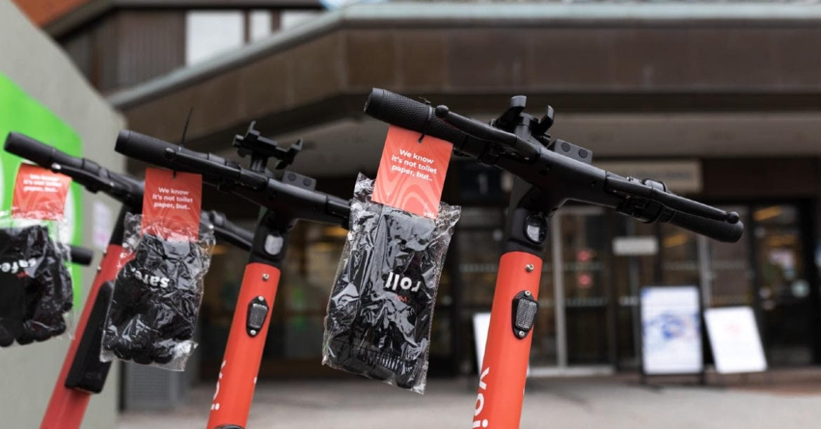 Voi e-scooter sharing service