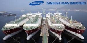 Samsung Heavy Industries division is one of the world's largest shipbuilders.