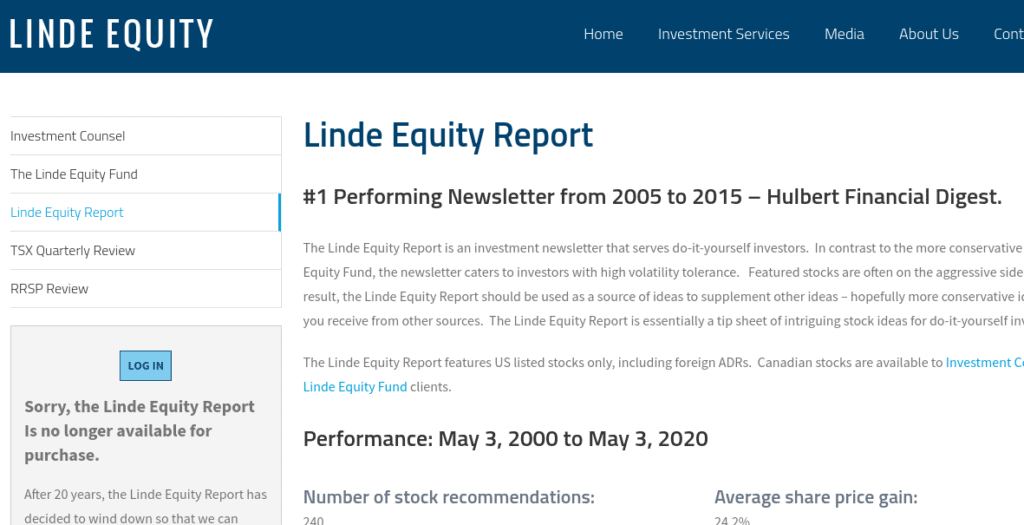 Linde Equity Report