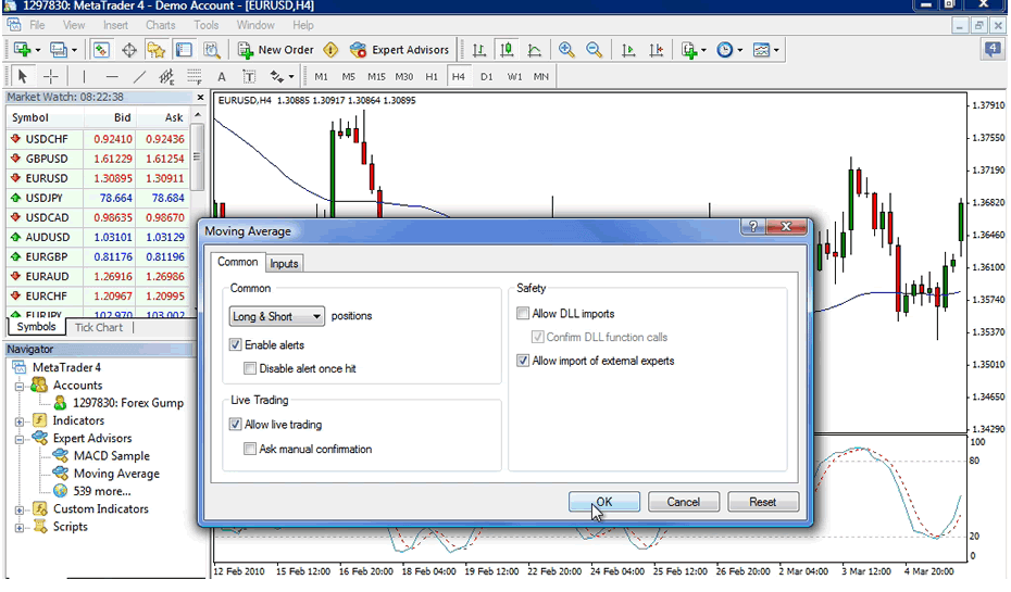 Install forex robot into MT4