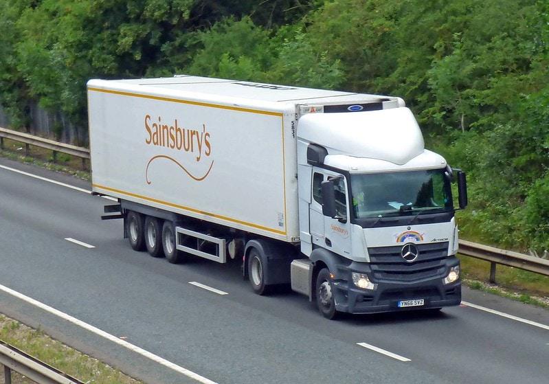 J sainsburys truck