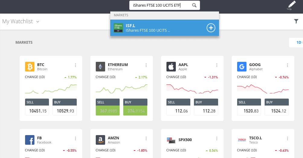Invest in best index funds at eToro
