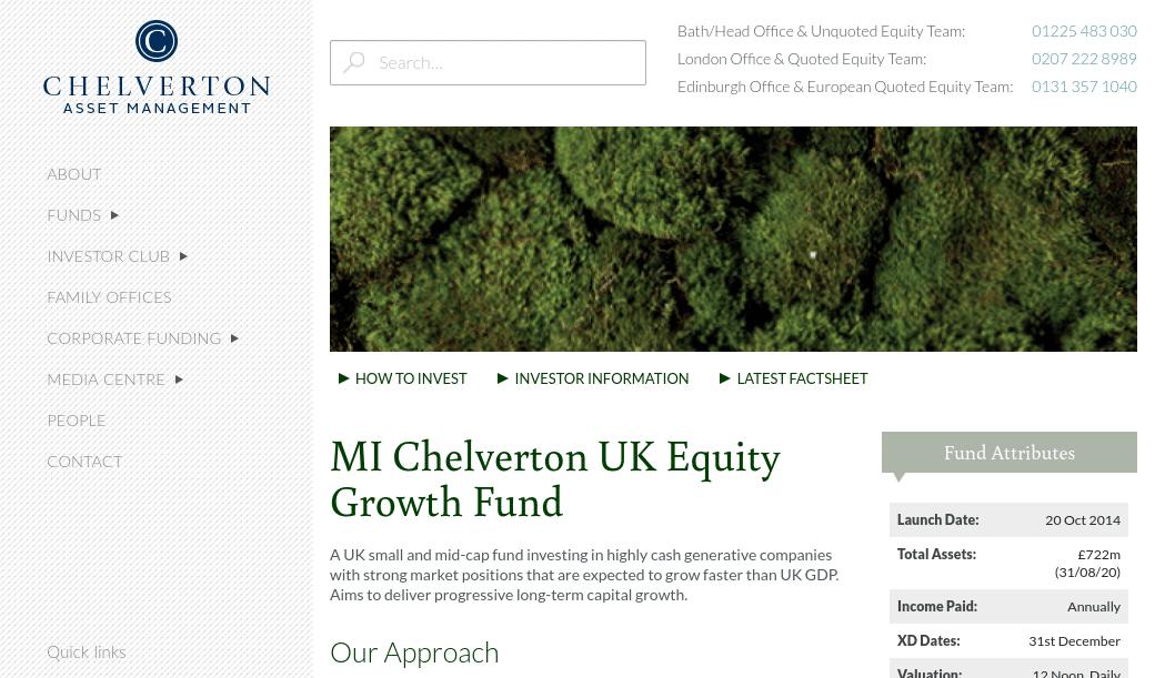 MI Chelverton UK Equity Growth Fund