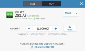 ETF trading on eToro