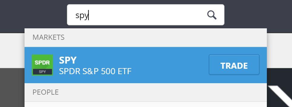 Buy S&P 500 on eToro