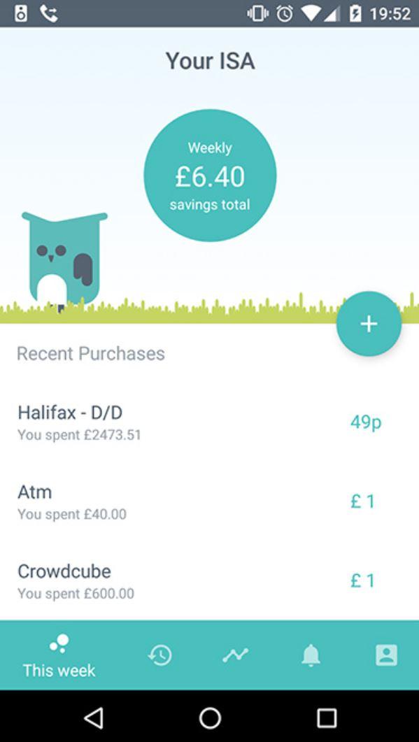 Moneybox app This Week roundup transactions