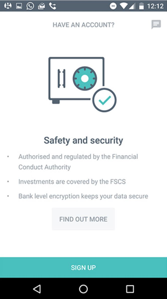 Moneybox app safety features
