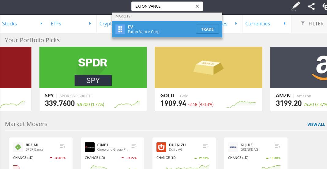 Buy eaton vance shares at eToro