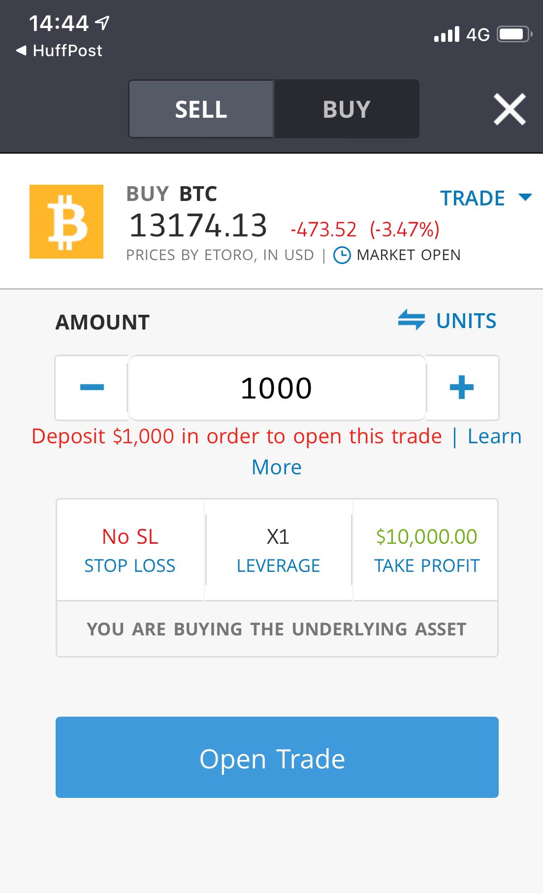 bitcoin cfd etoro