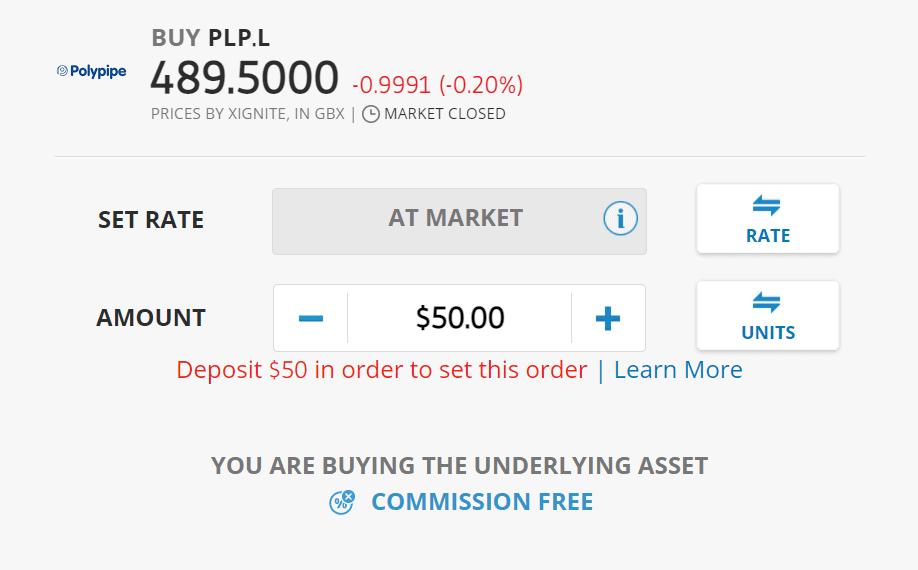 Buy Polypipe shares on eToro