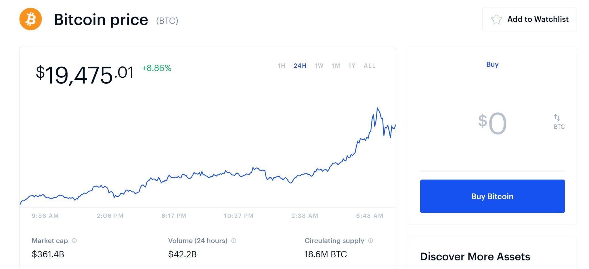 Coinbase Bitcoin Exchange