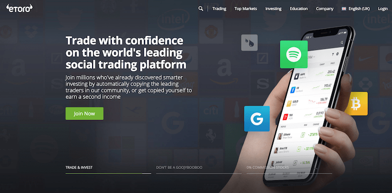 eToro jin now button