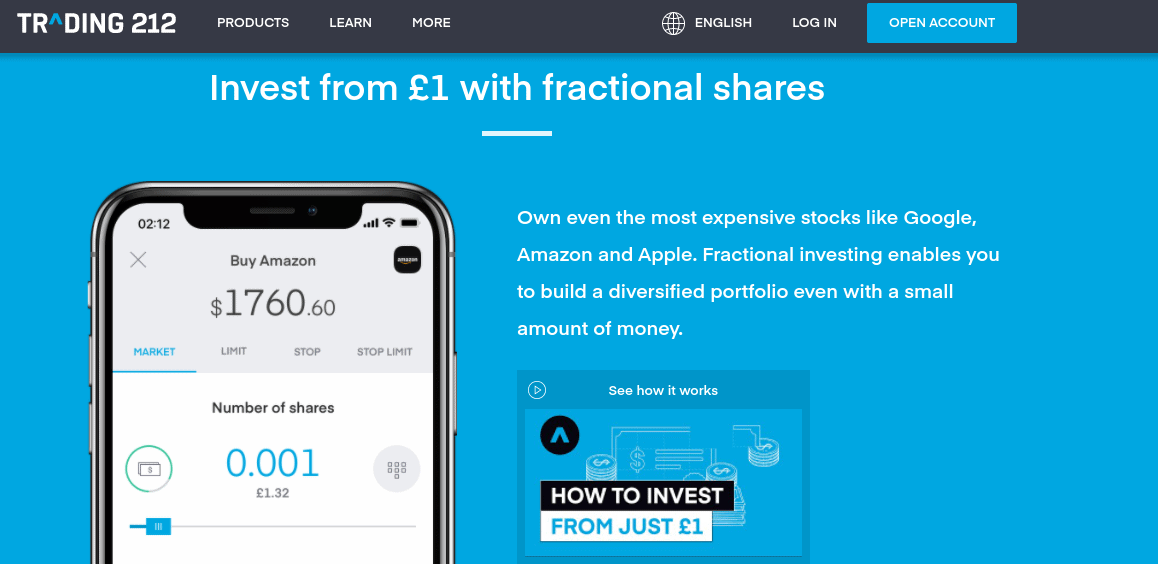 Trading 212 fractional shares