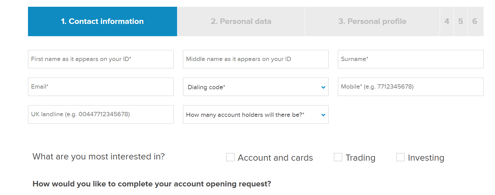 fineco bank open account