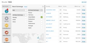 Fineco Bank stock screener