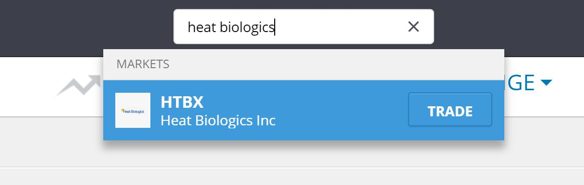 Search Heat Biologics on eToro