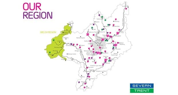 Severn Trent Region Map