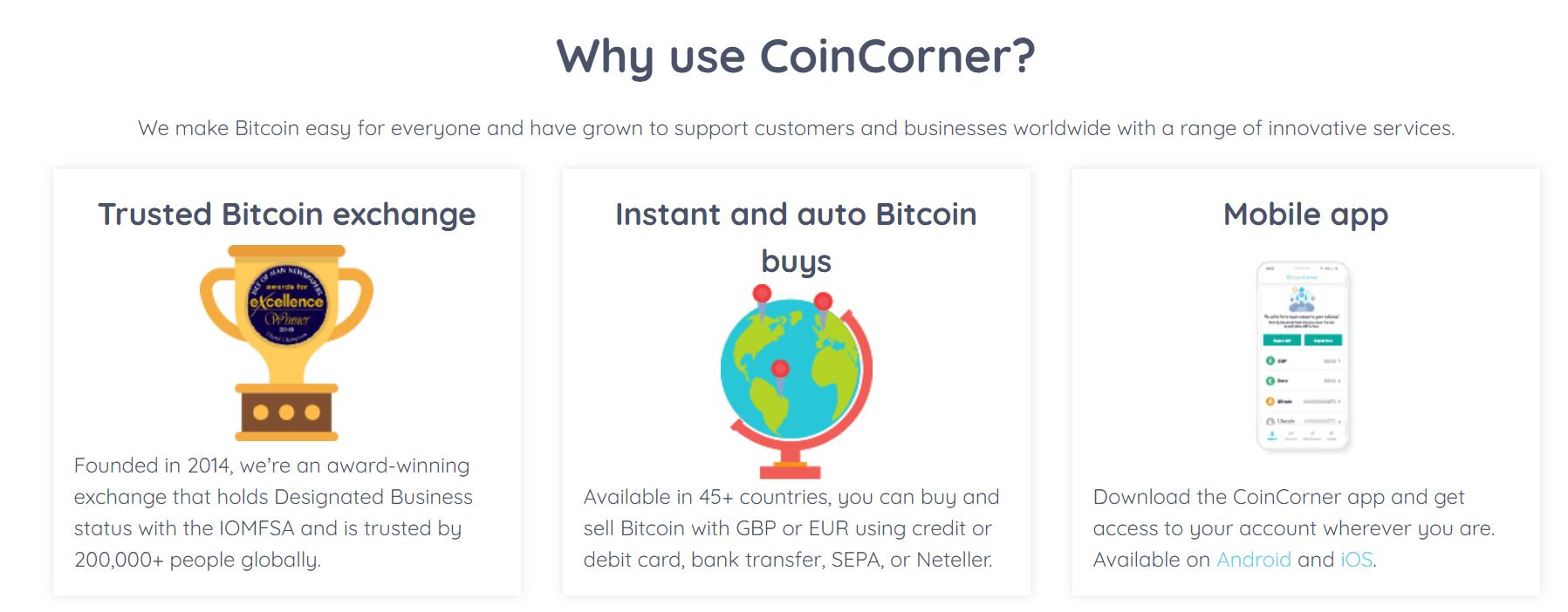 coin corner bitcoin review