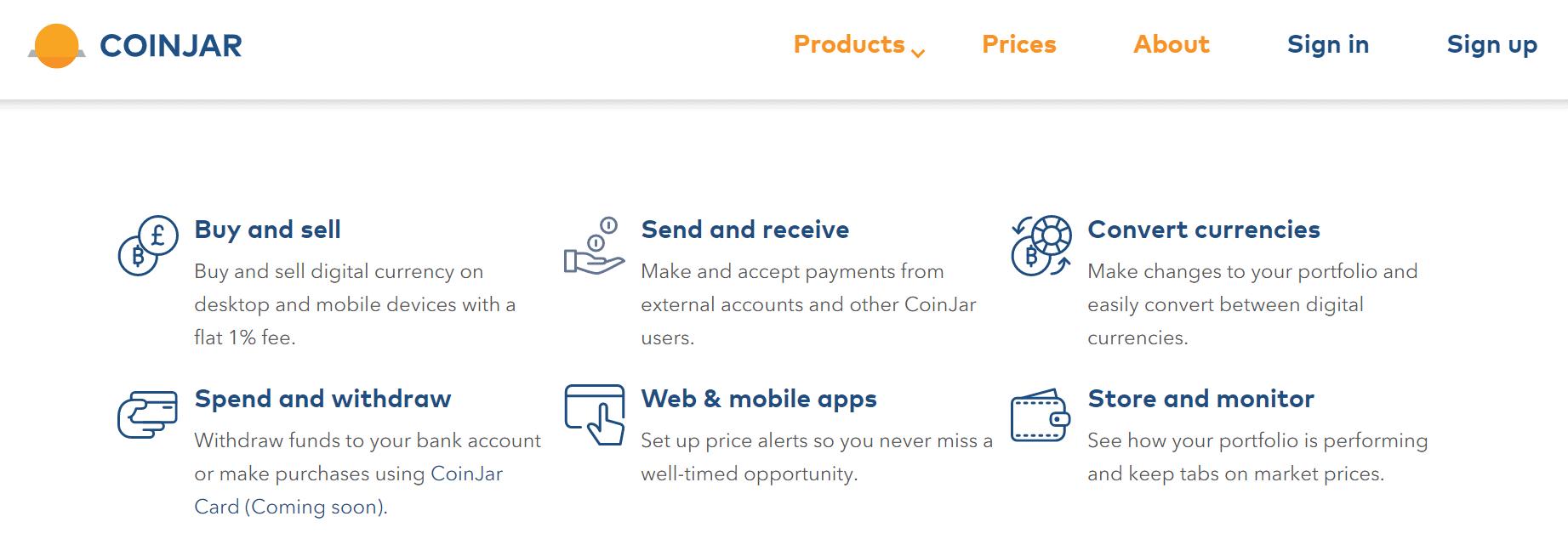 coinjar services