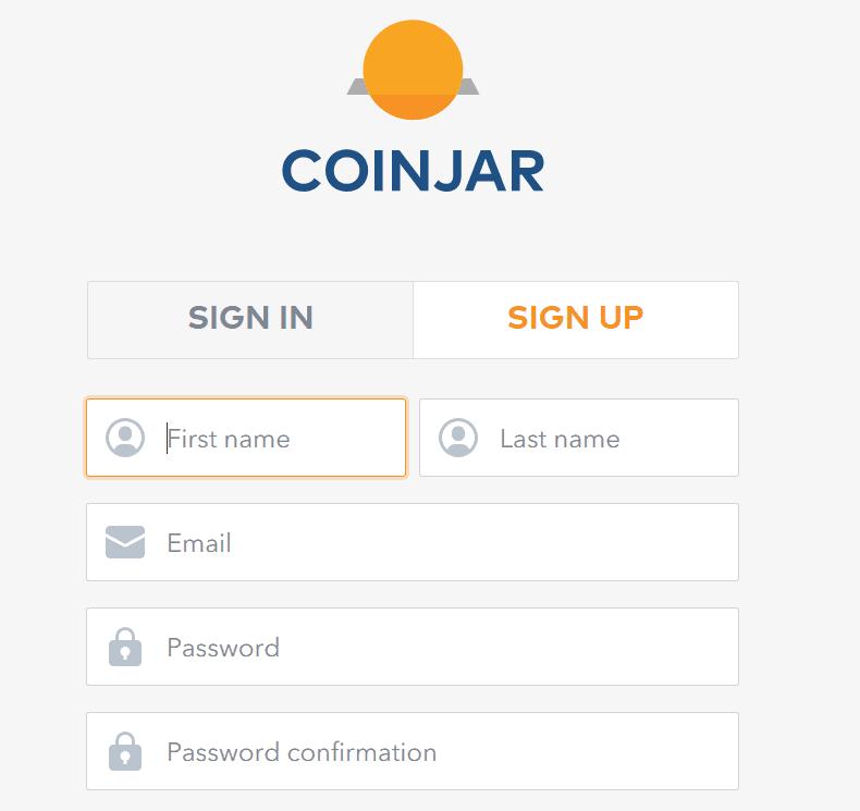 coinjar uk open account