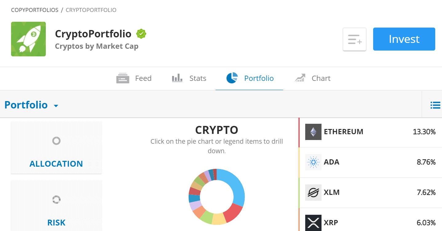 cryptoportfolio at etoro