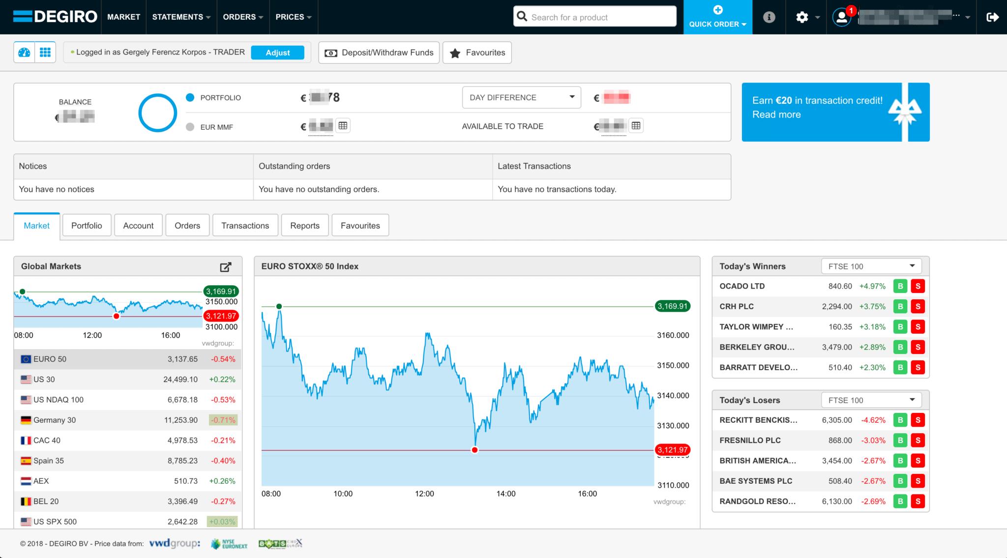 Degiro Trading Platform