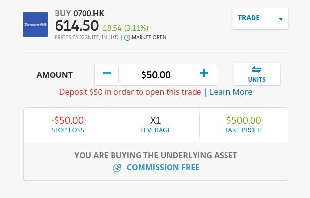 buy China stocks at eToro