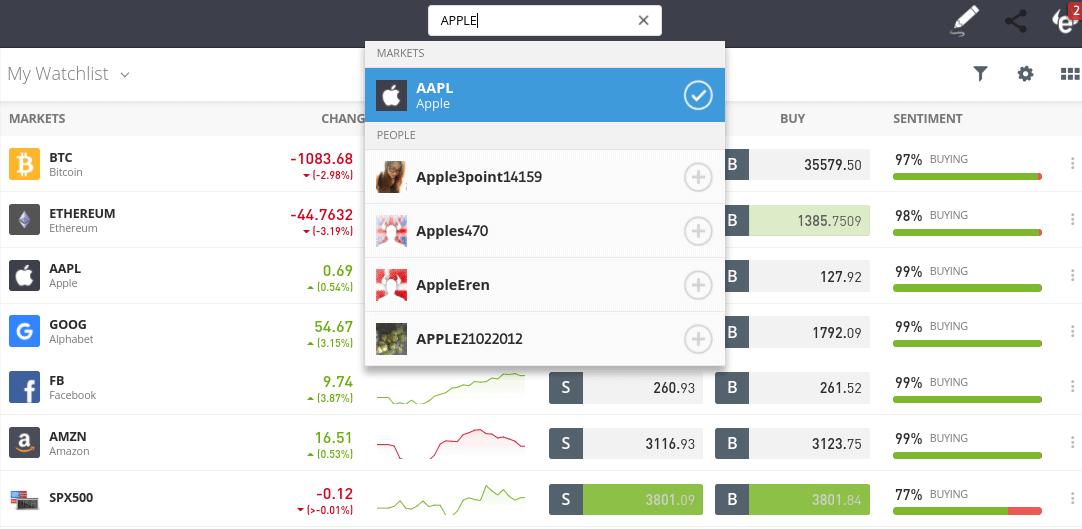 etoro user experience