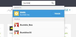 Search Bumble on eToro