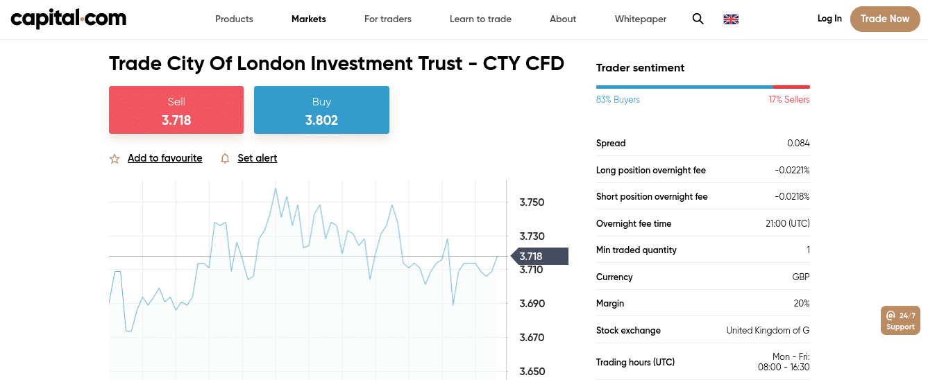 trade investment trusts Capital.com