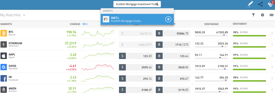 invest in trust funds etoro
