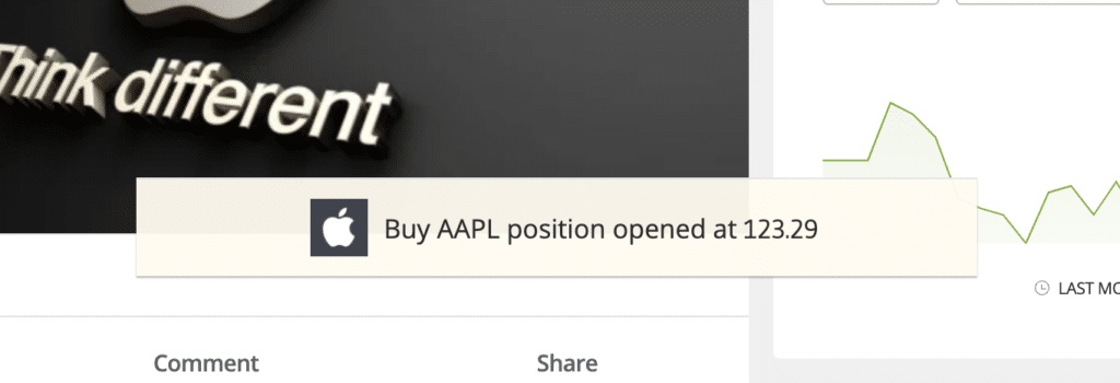 etoro open trade confirmation pop up