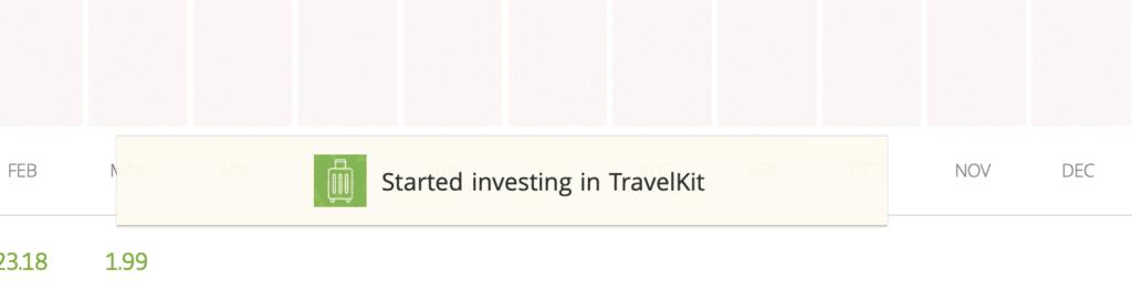 started investing in travelkit copy portfolio