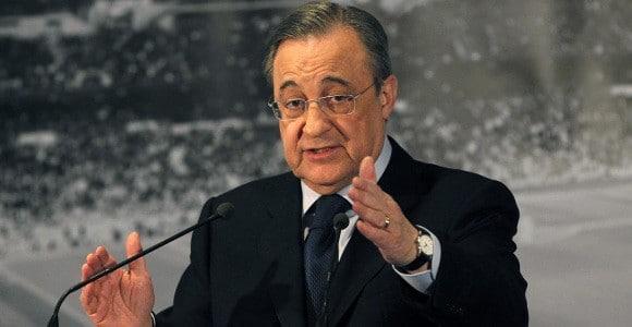 super league president Florentino Perez