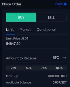 Phemex Buy Crypto