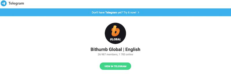 Bithumb Global Community Telegram