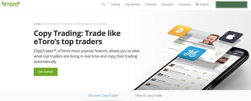 eToro copy trade