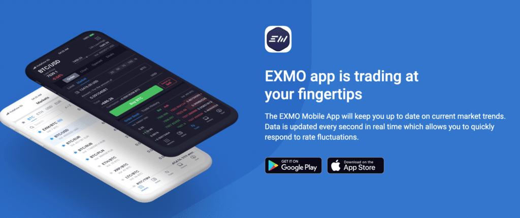 Exmo mobile app