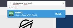 Search MSCI World Index ETF eToro