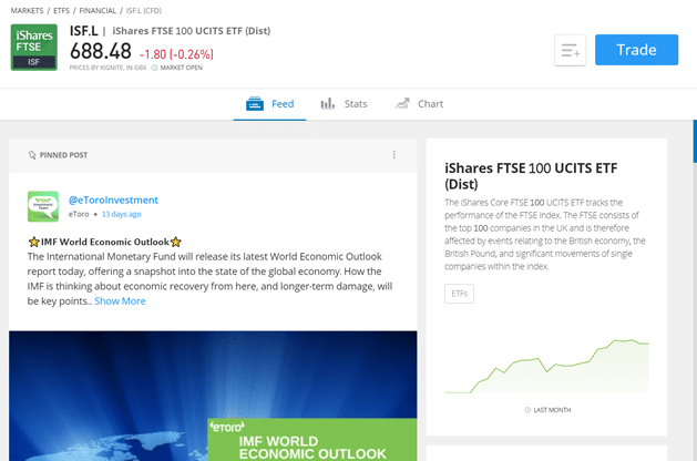 Invest in iShares FTSE 100 UCITS ETF