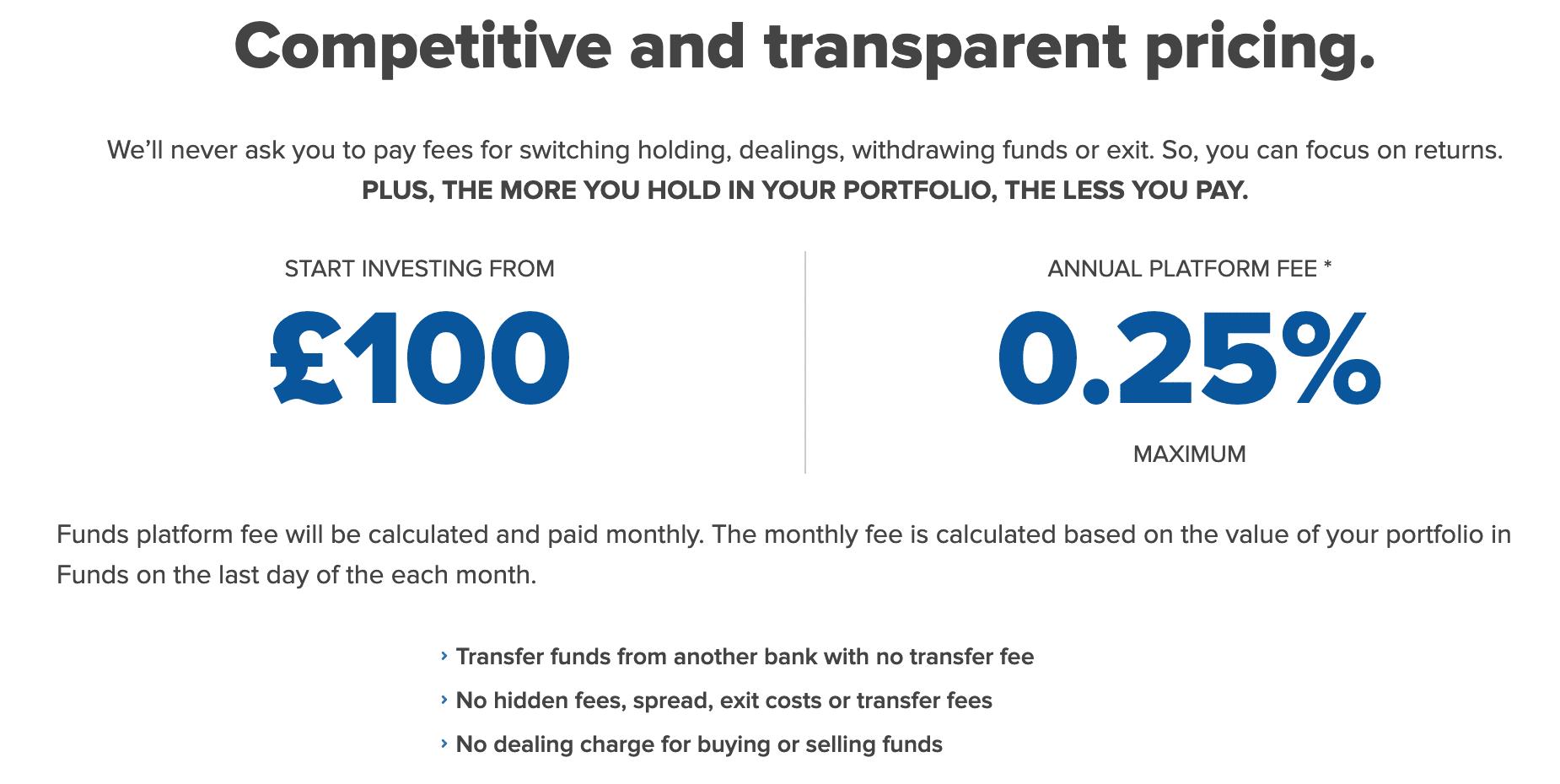 fineco fund fees