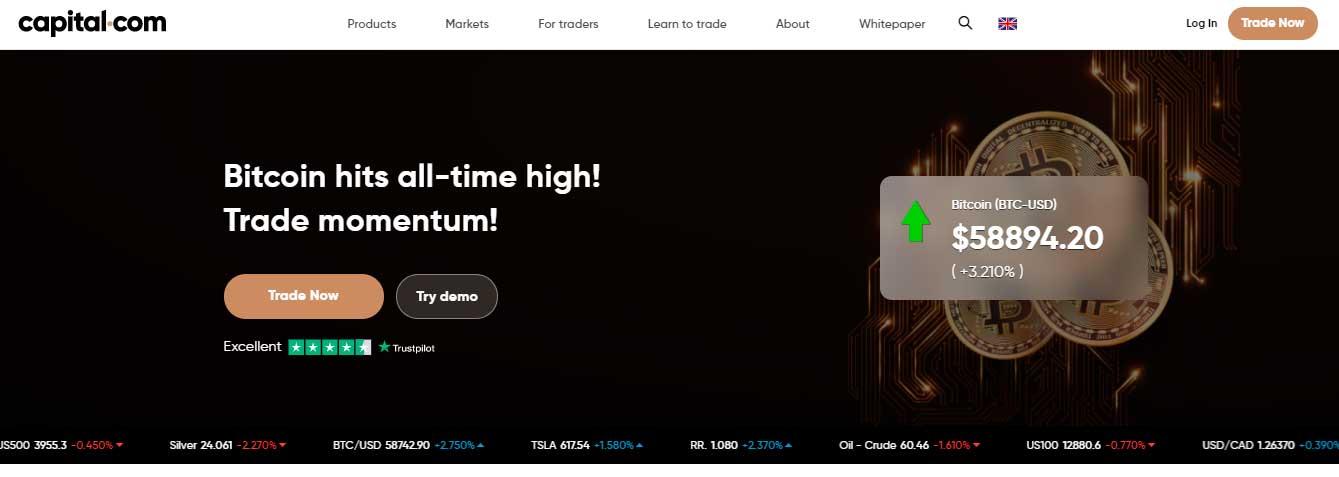 capital.com homepage